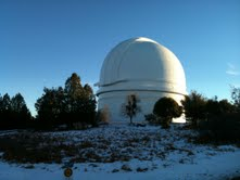 The dome of the Palomar 5.1m Hale Telescope