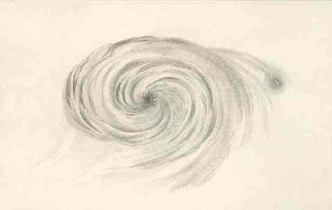 M51 drawn by Lord Rosse in 1845
