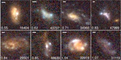 Clumpy embedded galaxies