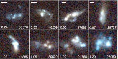 Example clumpy galaxies