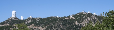 View of observatories at Kitt Peak