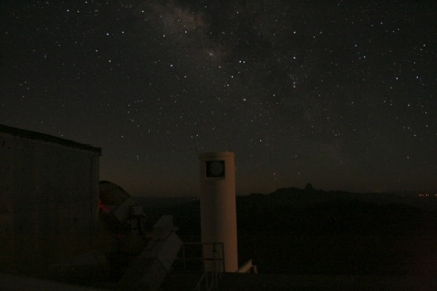 Milky Way over Coude Feed telescope