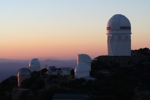 Kitt Peak domes at sunset
