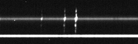 Two-dimensional spectrum of UGC 7342 showing very extensive ionized gas.