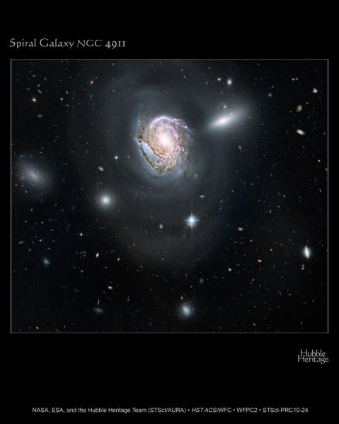 Hubble image of NGC 4911