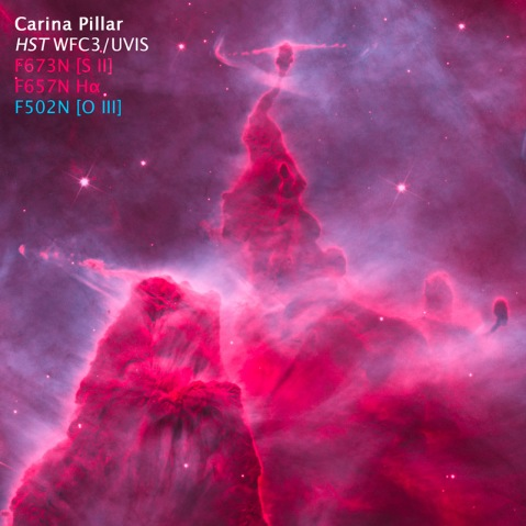 Reconstructed color composite of Carina Pillar