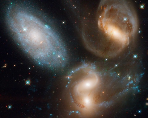 Reconstructed color composite of Stephan's Quintet