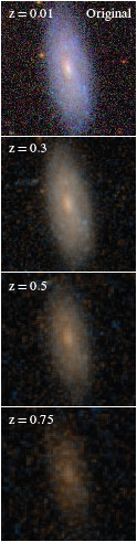 redshifted galaxy images