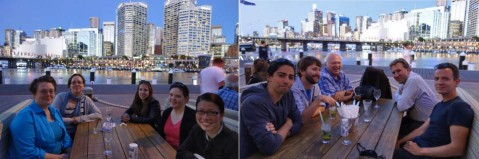 Post-conference relaxing in Sydney Harbour.