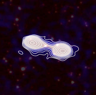 Example image with radio jets and infrared galaxies