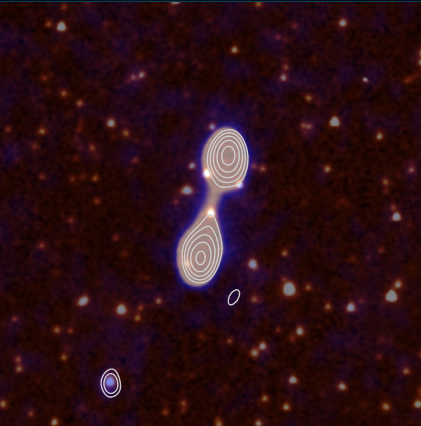 The tutorial image for Radio Galaxy Zoo