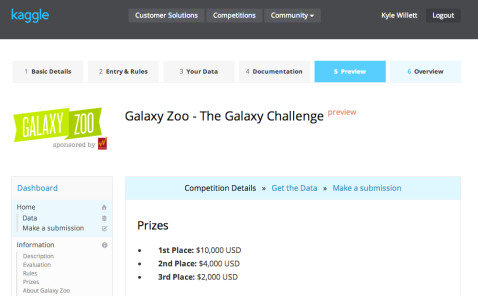 Galaxy Zoo's machine learning challenge. Hosted by Kaggle and sponsored by Winton Capital.
