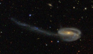 Arp 188, a.k.a. The Tadpole Galaxy: not a tailed radio galaxy. I repeat, not the subject of this blog post.