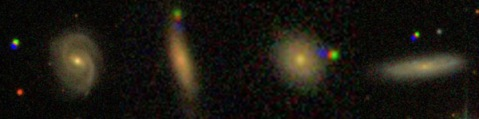 examples of asteroids in SDSS images