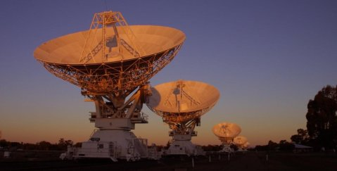 Image of the ATCA outside of Narrabri, NSW, Australia. Image courtesy CSIRO/Ettore Carretti.