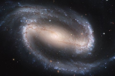 Barred spiral, NCG 1300, observed with the Hubble Space Telescope.
