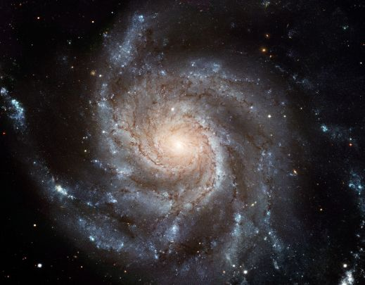M101 - an unbarred spiral galaxy (Credit: ESA/NASA HST).