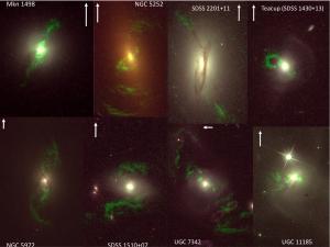 Montage of Hubble images of Voorwerpjes