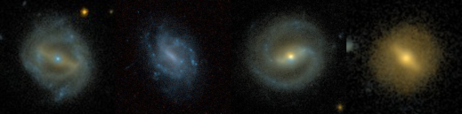 4 barred galaxies from Galaxy Zoo projects past