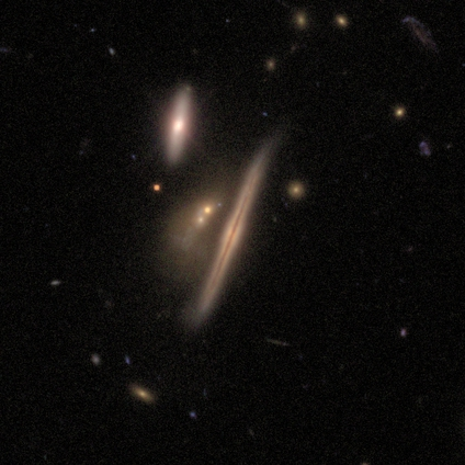edge-on disk galaxy with dust lane