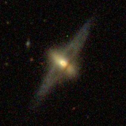 image of polar ring galaxy
