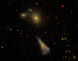 triangle galaxy and a nearby group of galaxies