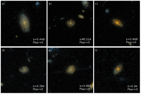 Unbarred spiral galaxies from COSMOS and classified in GZ: Hubble. From Melvin et al. (2014).