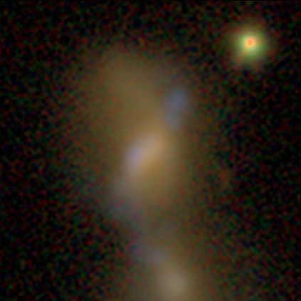 Image of a synthetic galaxy (AGZ00089n5) from the Illustris simulation, being classified in Galaxy Zoo.